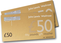 £50 John Lewis vouchers - our thank you to you